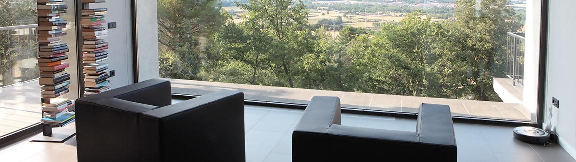 Châssis de fenêtre en aluminium Schuco