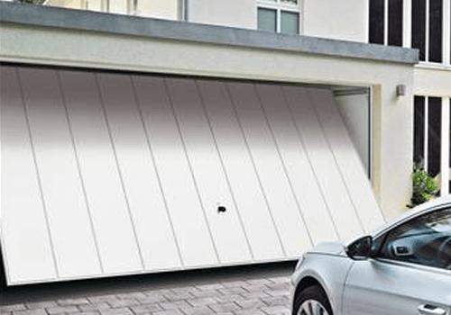 Porte de garage basculante blanche