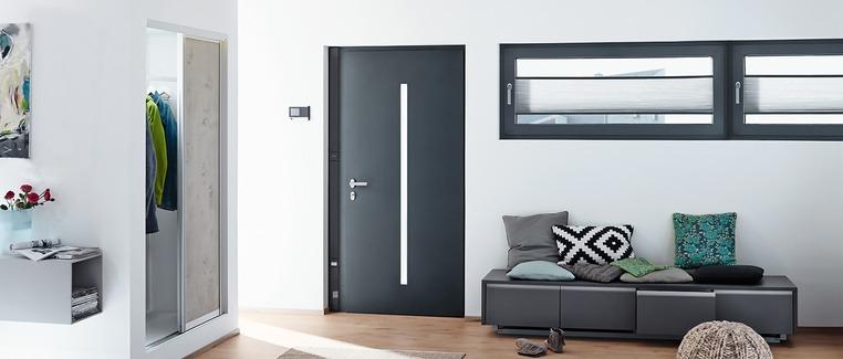 Porte Aluminium - Vue intérieure